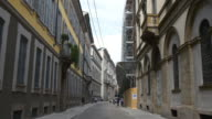 italy day light milan city street walking view 4k video