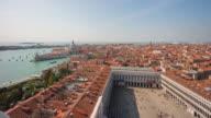 italy day san marco square campanile santa maria della salute basilica view point panorama 4k time lapse venice video
