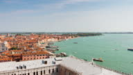 italy day venice most famous campanile view point city bay panorama 4k time lapse video
