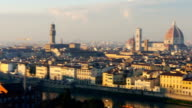 Italy Florence cityscape pan right video