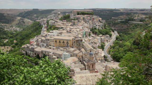 Italy, Italia, Sicily, Sicilia travel, town, Ragusa Ibla on hilltop video