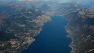 Italy Lombardia Lago di Garda aerial video