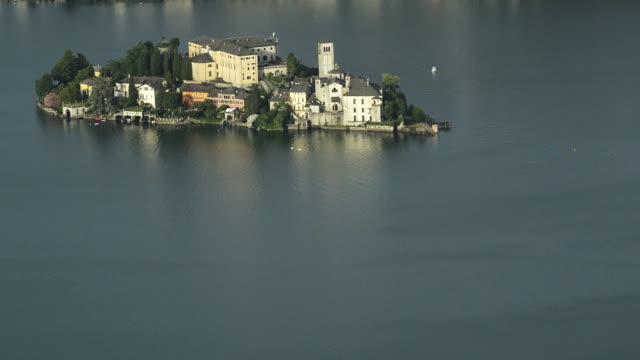 Italy Orta lake and San Giulio island video HD video