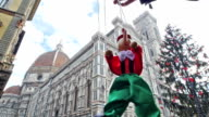 italy, puppet Pinocchio and Florence Cathedral on Christmas video