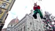 italy, puppet Pinocchio danced in florence video