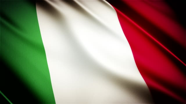 Italy realistic national flag seamless looped waving animation video