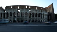 Italy Rome colosseum sunset time lapse video