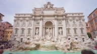 italy summer day rome city famous trevi fountain panorama 4k time lapse video