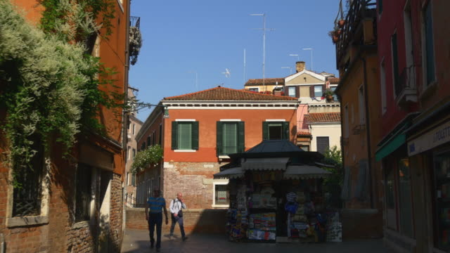 italy summer sun light venice city street panorama 4k video