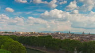 italy sunny day castle of the holy angel rome cityscape panorama 4k time lapse video