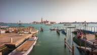 italy sunny day palazzo ducale bay church of san giorgio maggiore panorama 4k time lapse video