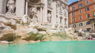 italy sunny day rome city famous trevi fountain front panorama 4k time lapse video