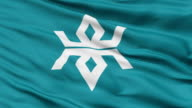 Iwate Prefecture Isolated Waving Flag video