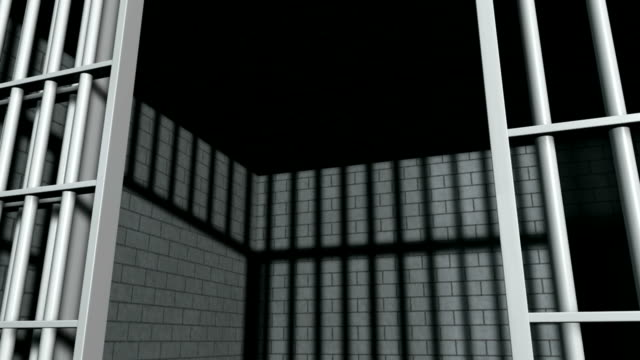 Jail Cell With Slamming Door Perspective video