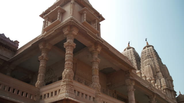Jain temple in the suburbs of Delhi video