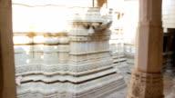 Jain temple Ranakpur. Rajasthan. India video