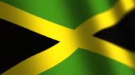 Jamaica flag - loop. 4K. video