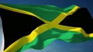 4K Jamaica Flag - Loopable video