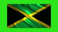 Jamaica flag waving,loopable on green screen video