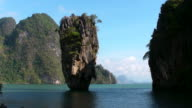 James Bond Island in Phang Nga Thailand video