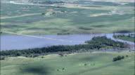 James River Flooded Near Huron  - Aerial View - South Dakota, Beadle County, United States video