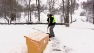 Janitor clean sidewalk and open the sandbox video