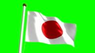 Japan flag (Loop & green screen) video
