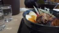 Japan food pork roast with sauce_4K video