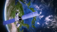 Japan. Telecommunication satellite orbiting Earth. video