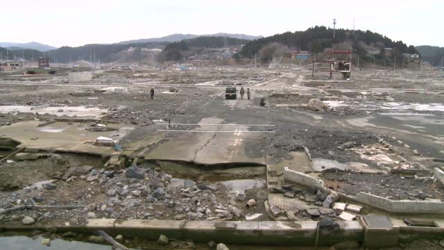 Japan tsunami destruction video