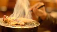 Japanese barbecue for dinner video