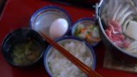 Japanese Food, Nabe Sukiyaki Style video