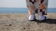 Japanese kimono lady's feet video