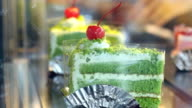 Japanese Matcha Green tea cake video