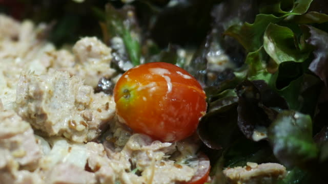Japanese noodle salad with Tuna fish video