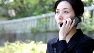 Japanese Office Lady Talking in Telephone video