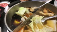 Japanese shabu restaurant , Bangkok , Thailand. video