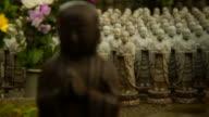Japanese Statues Rack Focus HD video