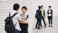 MS Japanese students having a break outside video