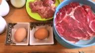 Japanese style ,Sukiyaki shabu in Bangkok , Thailand video