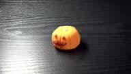 Japanese sweets'Wagashi'/Halloween pumpkin video