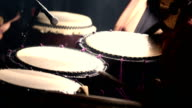 Japanese Taiko Drums Performance - Slow - Warm Color video