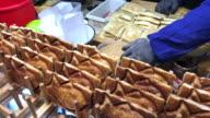 Japanese Taiyaki bread , Myeongdong street food , Seoul , South Korea. video