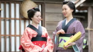 Japanese Women in Traditional Kimono video