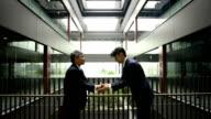 Japnese businessmen bowing video