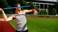 SLOW MOTION: Javelin Thrower video