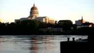 Jefferson City Missouri Capital Building Missouri River Flowing video