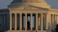 Jefferson Memorial at sunset video