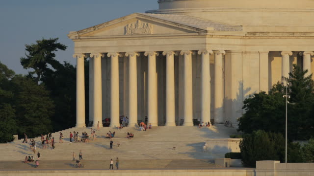 Jefferson Memorial at sunset video