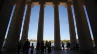 Jefferson Memorial columns in Washington D.C. video
